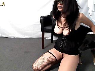 Amateur Dog porn Shy Girl